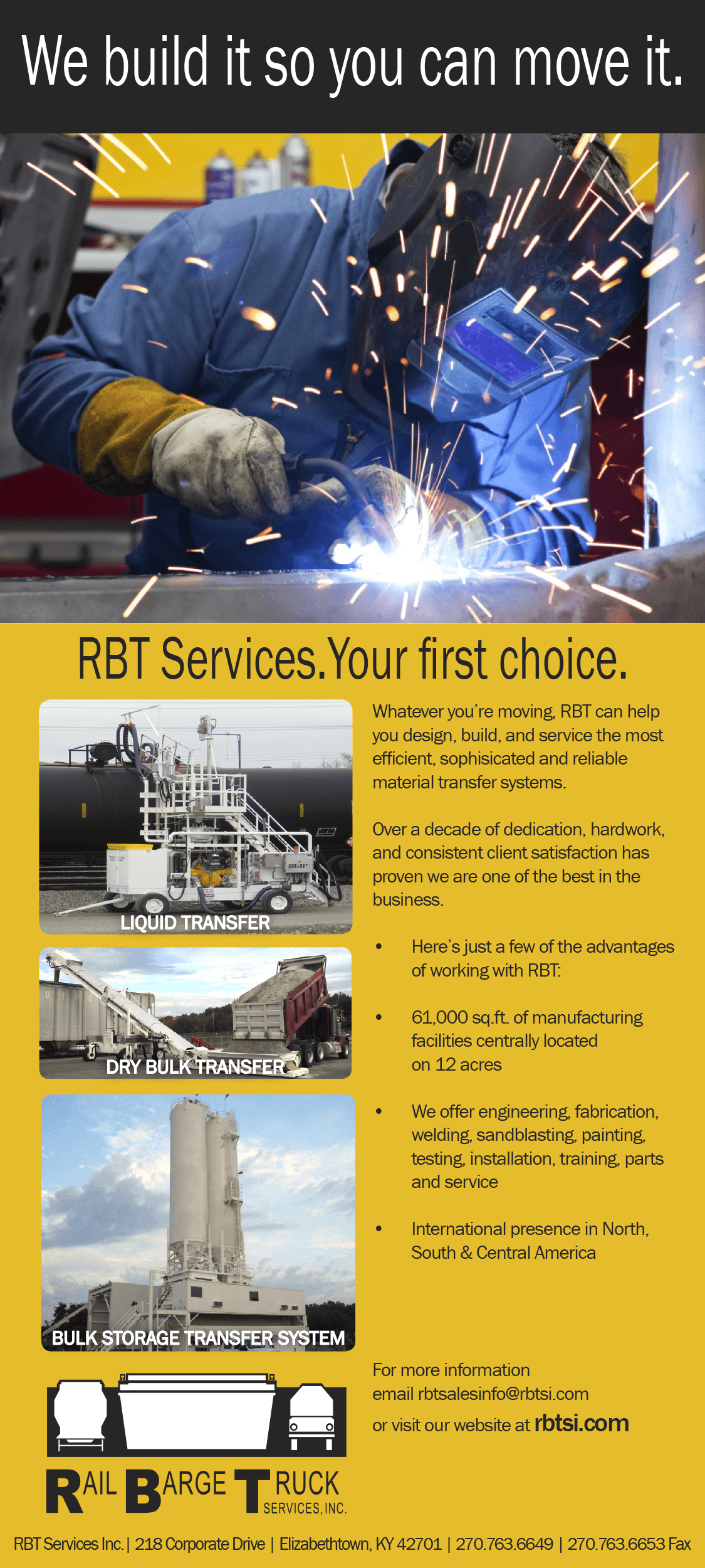 RBT Industries Trade ad